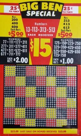 Stechbrett - Knobelbrett - Kneipenspiel - 1000 Stiche - BB - Bild vergrößern